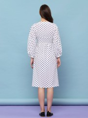 Dots V Neck Dress