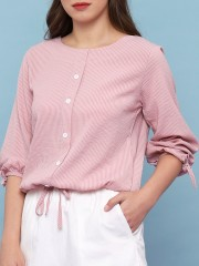 Sleeves N Waist Drawstring Top