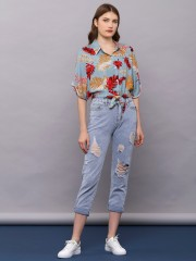 Colored Palm Crop Shirt