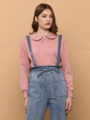 Denim High Waist Broad Pocket