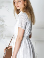 Shirt Embroidered Dress