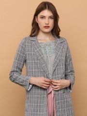 Wrist Flip Checkered Blazer