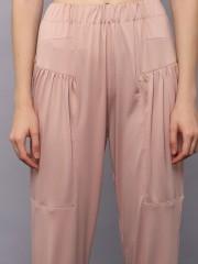 Elastic Waist Rect Thigh Pants
