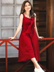 Ribbon Knot Flare Dress
