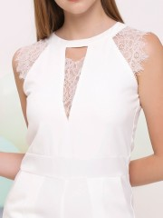 Halter Sleeve Lace Jumpsuit