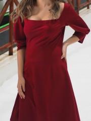 Rectangle Neckline Dress