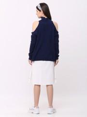 Cold Shoulder Knitted Top