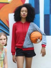 PT Hoodie 2 Tone w/ Denim Sweater