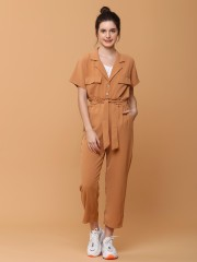 2pcs Set Blaze Collar Shirt with Long Pants
