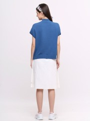 High neck knit top
