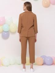 2 Set One Side Double Deck Pocket Blazer w/h Pants