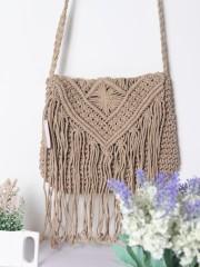 Hand Made Raffia Knotted Shoulder Bag