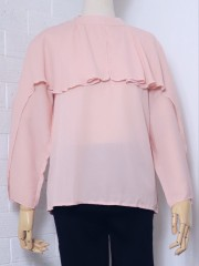 High-Neck-Layered Long Sleeves Top