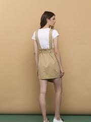 2PCS Tee And Pinafore Skirt