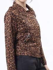 GGW tiger print biker jacket