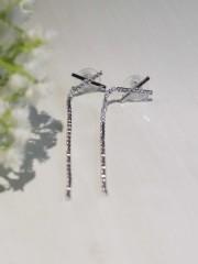 Silver Tone Cross Tangling Diamond