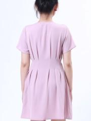 B-Sl Waist Kuk Sewn Mini Dress