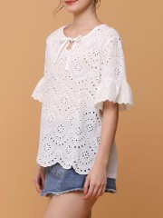Emroidered White Top