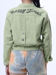 Wordy Back Candy Color Jacket