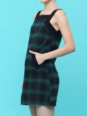 Checkered Pinafore Dress