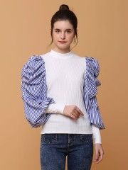Puff Sleeves Knitted Top