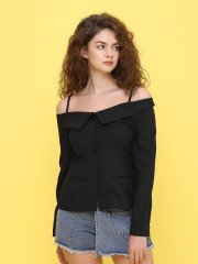 off shoulder blaze top