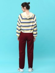 colored stripes hoodie sweater