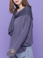 Knitted Sleeve Slab Emblace Sleeve Top