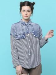 Denim Combi Stripes Shirt