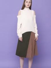 Side Pleats Skirt