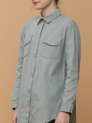 Unfinish Edge Outer Shirt