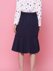 Button Up Ruffles Skirt