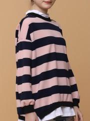 Layere Big Stripess L/Slv Top