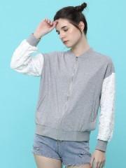 Brocade Sleeves Jersey Jacket