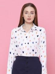 Heart Prints L/Slv Shirt