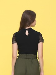 Lucky Carm Lacey Oriental Top