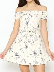 Lucky Charm Flower Print Mini Dress