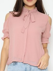 Lucky Charm Cold Shoulder Shirt