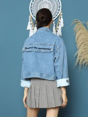 Cottage Core Be You Sleeves Denim Jacket
