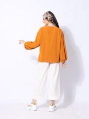 Ramadhan Moon Button Fold Long Sleeve Top