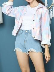 Cottage Core Pastel Tie Dyed Denim