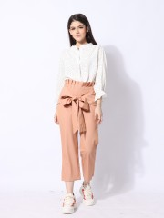 Ramadhan Moon Big Ribbon Tied Pants