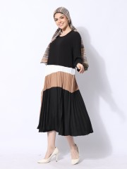 Wave Panel Color Dress