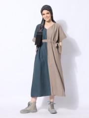 Ramadhan Moon Line Polar Waist Drawstring Dress