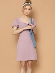 Puff Sleeves Cottage Mini Dress