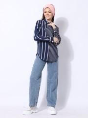 Stripes Combi Overlap Shirt